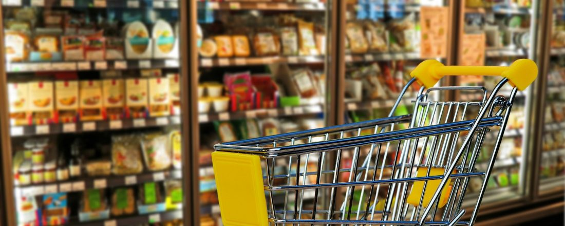 carrinho de supermercado que representa o on trade